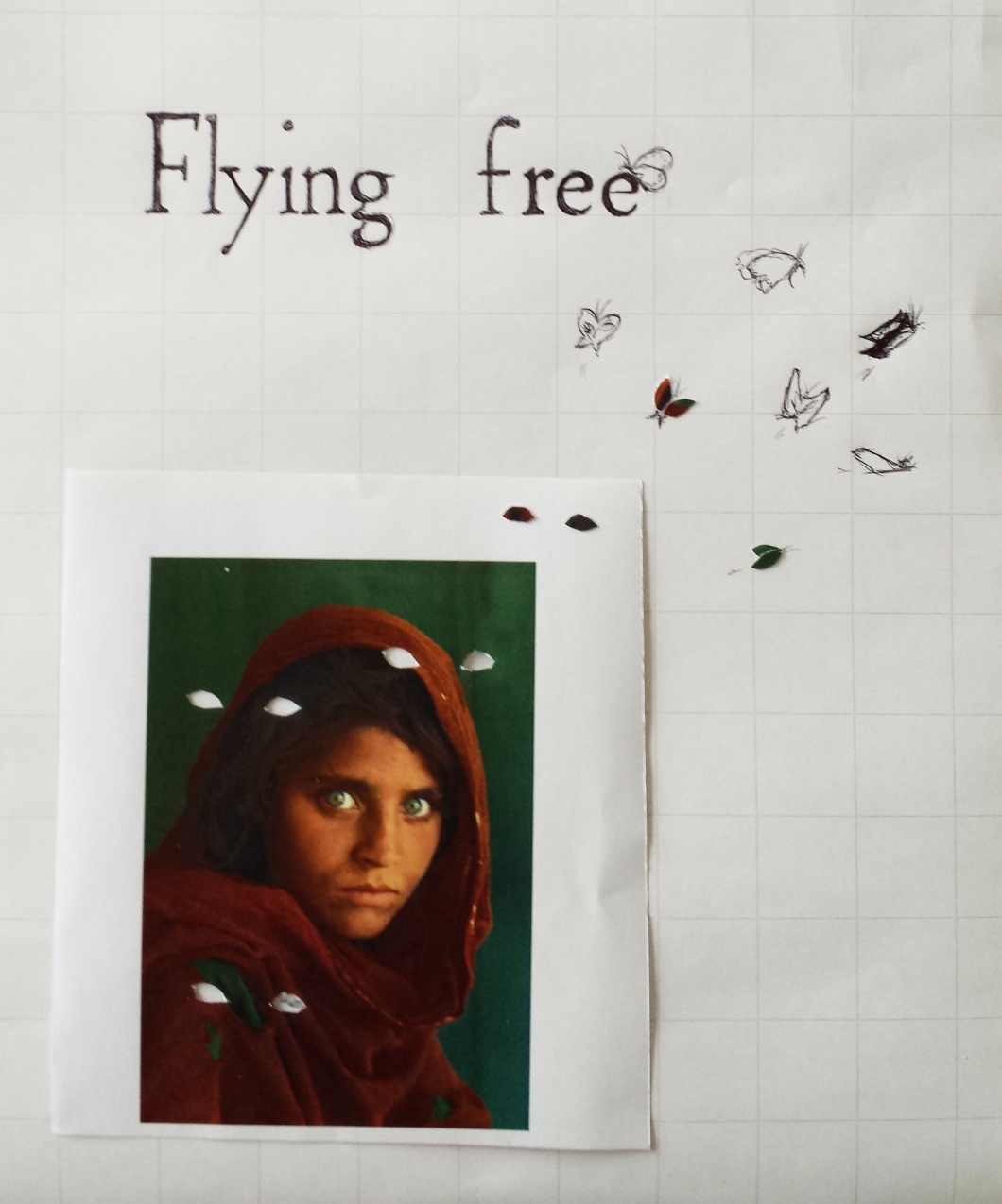 afghan girl flying free