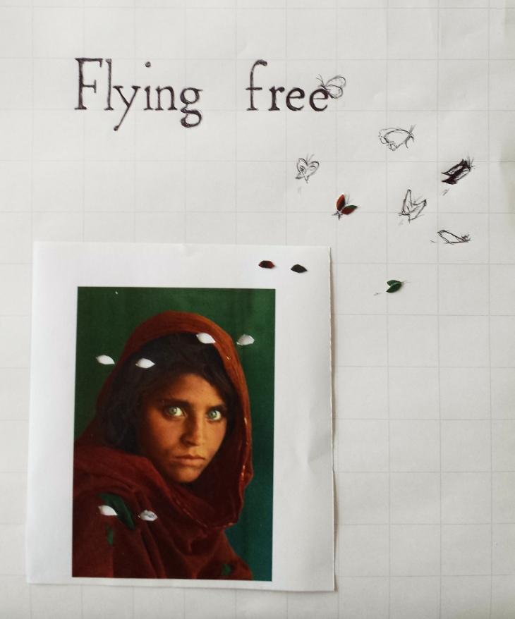 afghan girl flying free